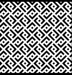 black and white squares modern seamless pattern vector image