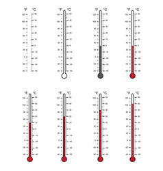 Blank of thermometers and different levels vector
