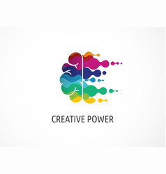 brain creative mind learning and design icons vector image