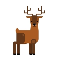Carton wild deer animal flat vector image
