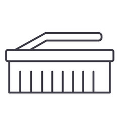 cleaning brush line icon sig vector image