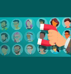 Customer retention businessman hand vector