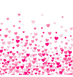 cute little hearts background different size vector image