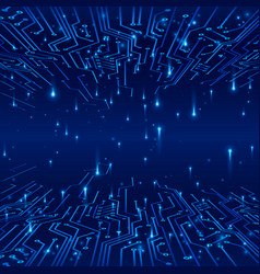 Cyberspace concept of a futuristic background vector