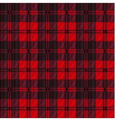 Dark red tartan vector