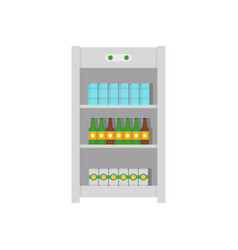 drinks refrigerator icon flat style vector image