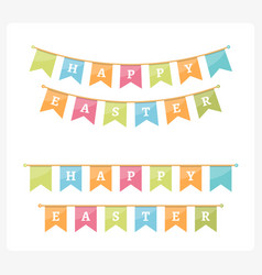 Easter bunting vector