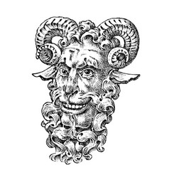 faun or satyr in ancient mythology fantasy greek vector image