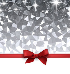 Festive background with red bow vector
