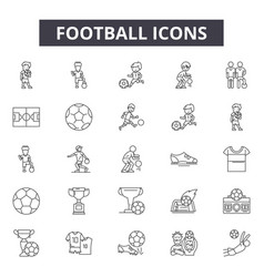 football line icons for web and mobile design vector image