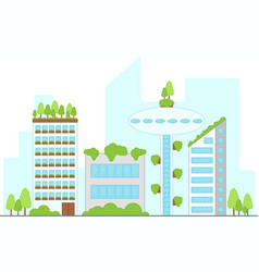 future urban landscape with buildings vector image