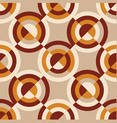 Geometric vintage 60s or 70s style seamless vector
