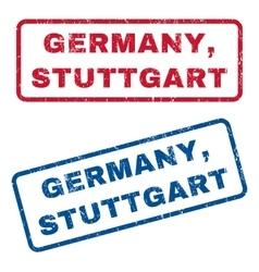Germany Stuttgart Rubber Stamps vector