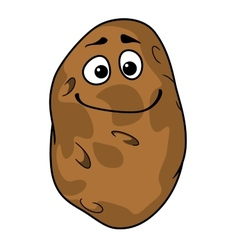 Goofy cartoon farm fresh potato vector image