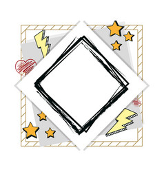 Hand draw frame vector