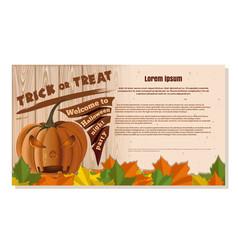 happy halloween design festive beige card vector image