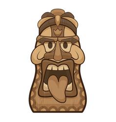 Hawaii tiki idol icon cartoon style vector