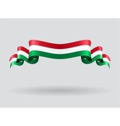 Hungarian wavy flag vector