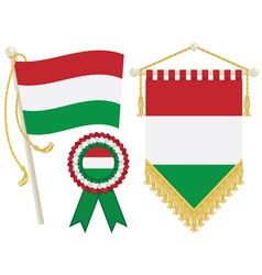 hungary flags vector image