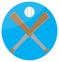 Icon baseball design flat vector image
