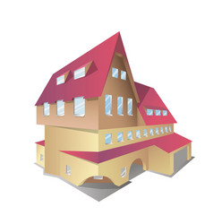 Icon of isometric house vector