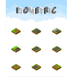Isometric road set of unfinished turning vector