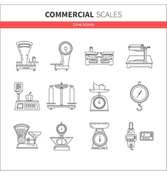 Kitchen scales icon vector image