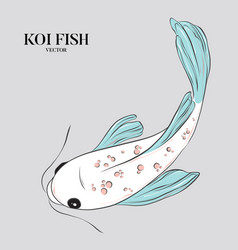 koi fish japanese chinese oriental vector image