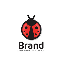 Ladybug is an arthropod logo vector