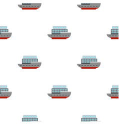 Large passenger ship pattern flat vector