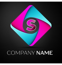 Letter S logo symbol in the colorful rhombus vector