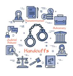 Line banner legal proceedings vector