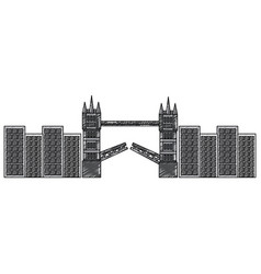 london bridge building urban city landmark vector image