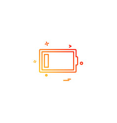 low battery icon design vector image