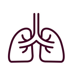 lung icon isolated on white background from vector image
