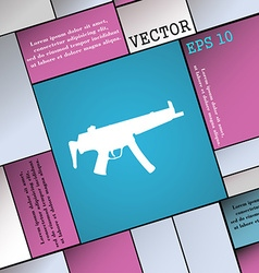 machine gun icon sign Modern flat style for your vector image