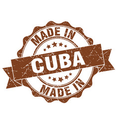 Made in cuba round seal vector