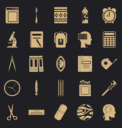 Magistrate icons set simple style vector