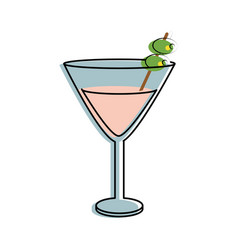 Martini cocktail glass icon image vector