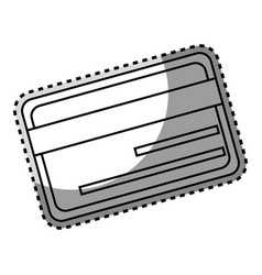 Monochrome contour sticker with credit card vector