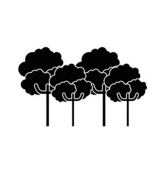 Nature trees cartoon vector