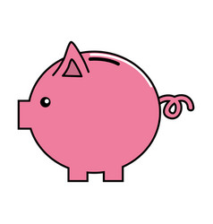 Nice pig to save coin currency vector