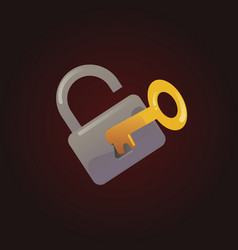 open lock and key vector image