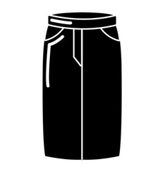 Pant jeans icon simple black style vector