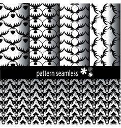 pattern classic black patterned vector image