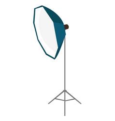 Photo studio lighting equipment cartoon vector