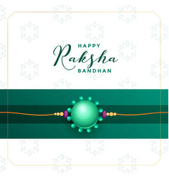 Raksha bandhan greeting with rakhi thread vector