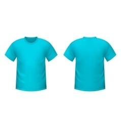 Realistic blue t-shirt vector image