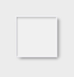realistic square empty picture frame 3d style vector image