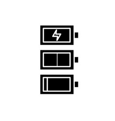 Recharge black icon sign on isolated vector